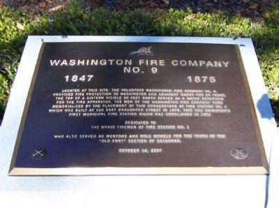 Washington Fire Company Marker image. Click for full size.