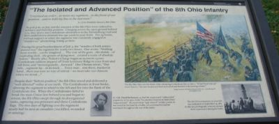 """The Isolated and Advanced Position"" of the 8th Ohio Infantry Marker image. Click for full size."