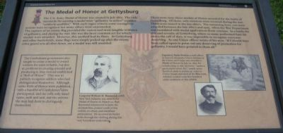 The Medal of Honor at Gettysburg Marker image. Click for full size.