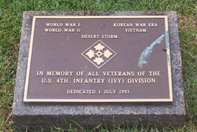 Fourth Infantry (Ivy) Division Marker image. Click for full size.