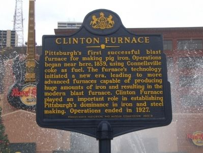 Clinton Furnace Marker image. Click for full size.