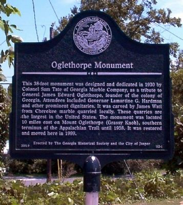 Oglethorpe Monument Marker image. Click for full size.