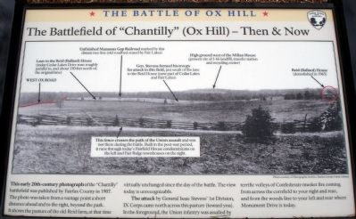 "The Battlefield of ""Chantilly"" (Ox Hill) – Then & Now Marker image. Click for full size."