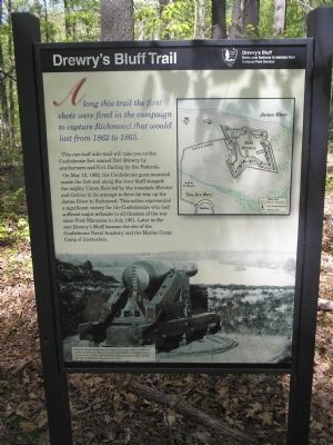 Drewry's Bluff Trail Marker image. Click for full size.