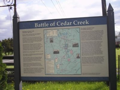 Battle of Cedar Creek Marker image. Click for full size.