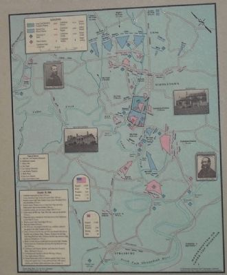 Cedar Creek Battle Map from Marker image. Click for full size.