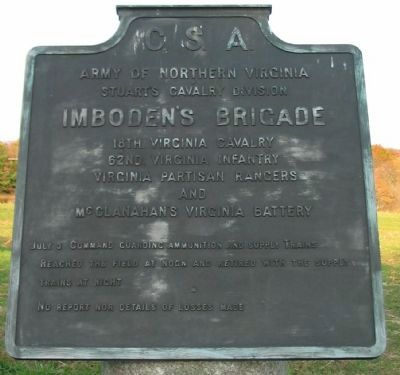 Imboden's Brigade Tablet image. Click for full size.