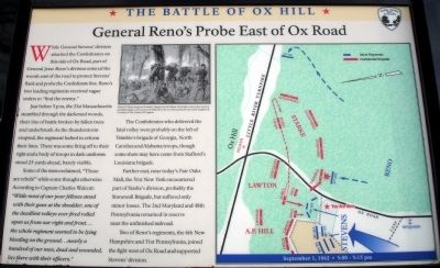 General Reno's Probe East of Ox Road Marker image. Click for full size.