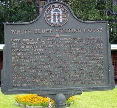 White Bluff Meeting House Marker image. Click for full size.