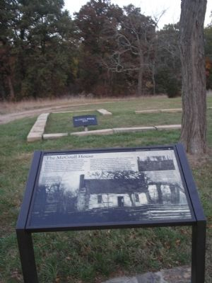 The McCoull House Marker and Site image. Click for full size.