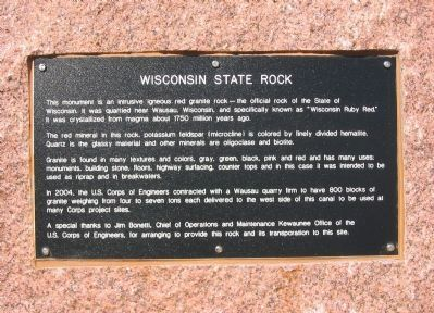 Wisconsin State Rock Marker image. Click for full size.