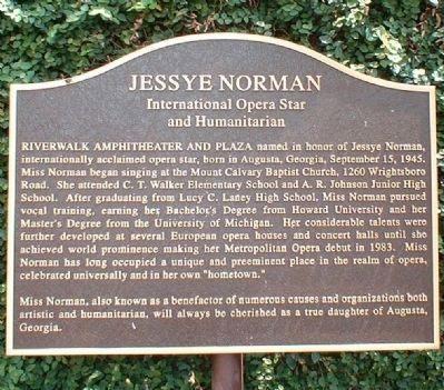 Jessye Norman Marker image. Click for full size.