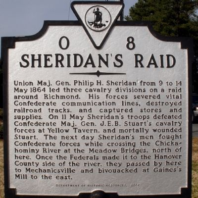 Sheridan's Raid Marker image. Click for full size.