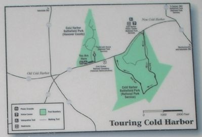 Cold Harbor Map from Marker image. Click for full size.