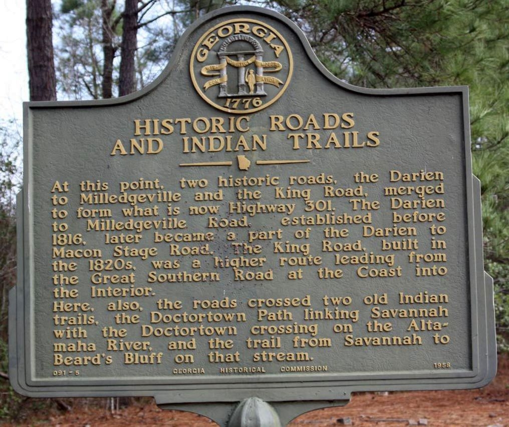 Historic Roads And Indian Trails Marker