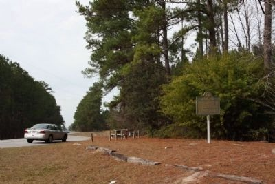 Historic Roads And Indian Trails Marker, looking north along US 301 at picnic area image. Click for full size.