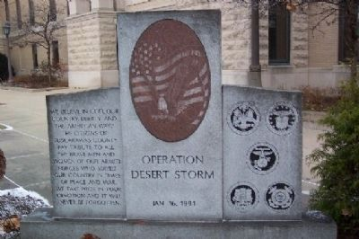 Operation Desert Storm Memorial image. Click for full size.