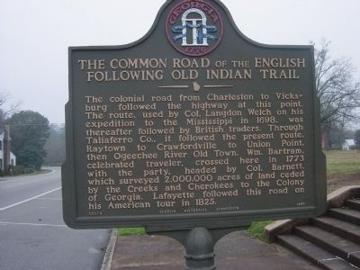 The Common Road of the English Following Old Indian Trail Marker image. Click for full size.