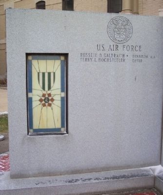 Tuscarawas County Viet-nam Veterans Memorial Air Force Panel image. Click for full size.