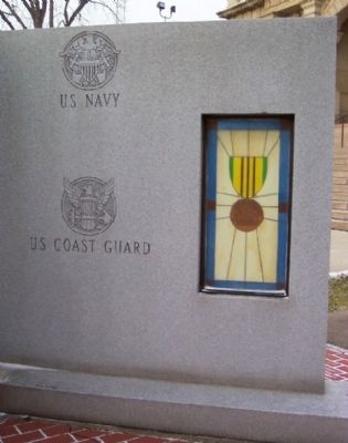 Tuscarawas County Viet-nam Veterans Memorial Navy/Coast Guard Panel image. Click for full size.