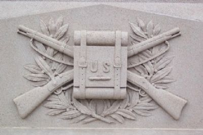 Tuscarawas County Civil War Memorial Infantry Motif image. Click for full size.