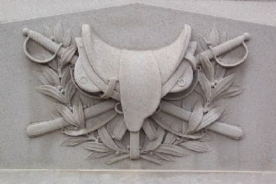 Tuscarawas County Civil War Memorial Cavalry Motif image. Click for full size.
