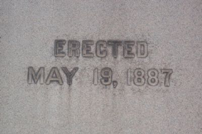 Tuscarawas County Civil War Memorial Erection Date image. Click for full size.
