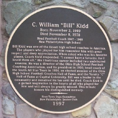 "C. William ""Bill"" Kidd Marker image. Click for full size."