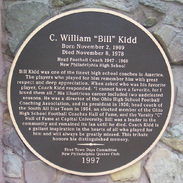 "C. William ""Bill"" Kidd Marker"