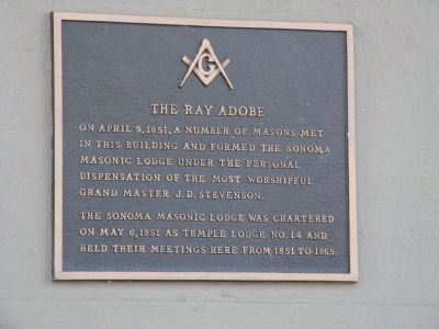 Ray Adobe Masonic Marker image. Click for full size.