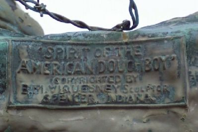 Tuscarawas County World War I Memorial Statue Detail image. Click for full size.