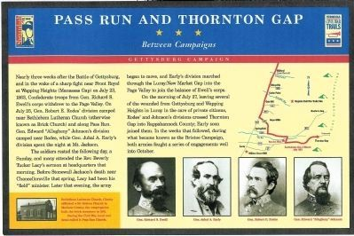 Pass Run and Thornton Gap Marker image. Click for full size.