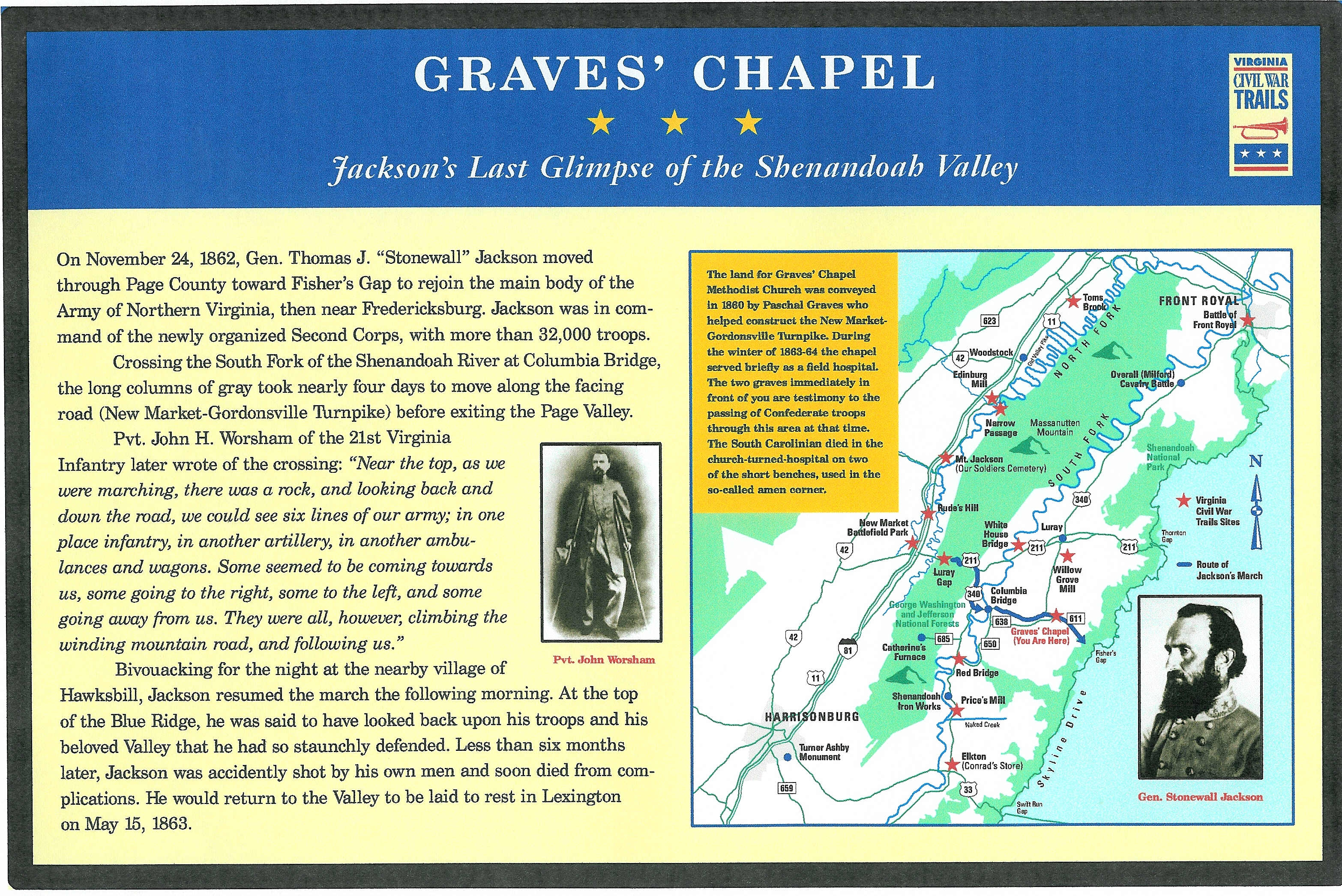 Graves' Chapel Marker