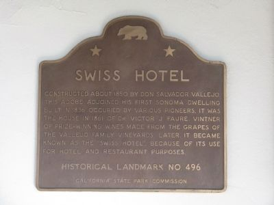 Swiss Hotel Marker image. Click for full size.