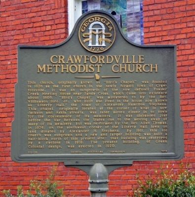 Crawfordville Methodist Church Marker image. Click for full size.