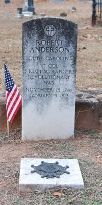 Gen. Robert Anderson Tombstone<br>Old Stone Church Cemetery, Pendleton, SC image. Click for full size.