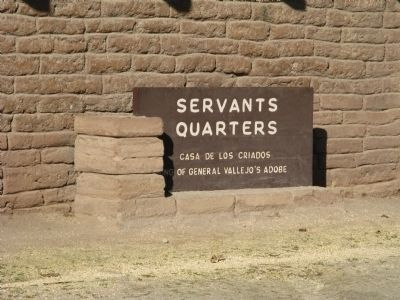 Servants Quarters Marker image. Click for full size.