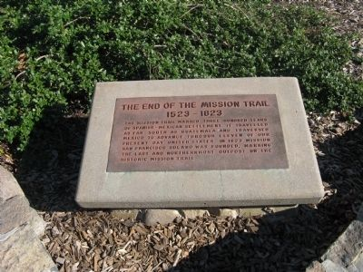 The End of the Mission Trail Marker image. Click for full size.
