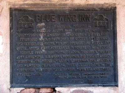 Blue Wing Inn Marker image. Click for full size.