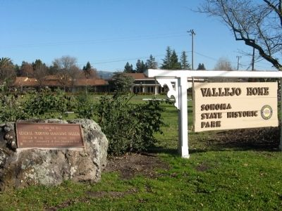 Wide View of Marker at Entrance to Historic Park image. Click for full size.