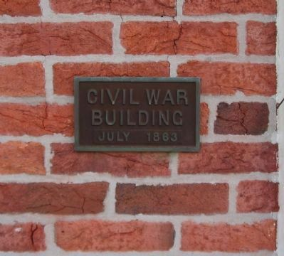 Civil War Building Plaque image. Click for full size.