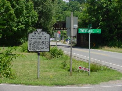 Birthplace of Meriwether Lewis Marker image. Click for full size.