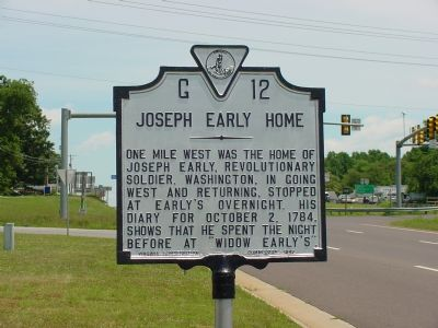 Joseph Early Home Marker image. Click for full size.