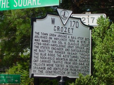 Crozet Marker image. Click for full size.