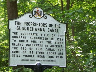 The Proprietors of the Susquehanna Canal Marker image. Click for full size.