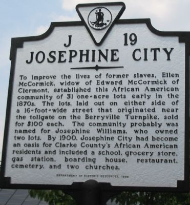 Josephine City Marker image. Click for full size.