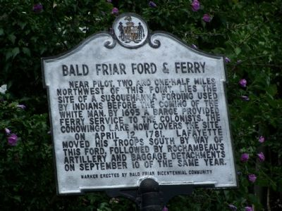 Bald Friar Ford & Ferry Marker image. Click for full size.