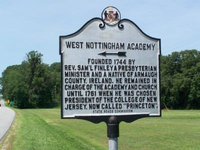 West Nottingham Academy Marker image. Click for full size.