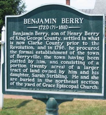 Benjamin Berry Marker image. Click for full size.