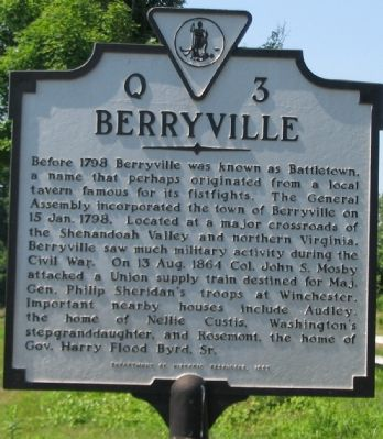Berryville Marker image. Click for full size.